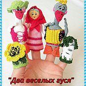 """Куклы и игрушки ручной работы. Ярмарка Мастеров - ручная работа Пальчиковй театр""""два веселых гуся"""". Handmade."""