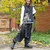 """Одежда ручной работы. Ярмарка Мастеров - ручная работа Брюки-шаровары """"Утро самурая"""". Handmade."""