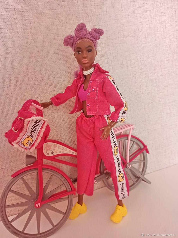 джинсовый костюм для Барби, Одежда для кукол, Омск,  Фото №1