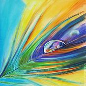"""Картины и панно ручной работы. Ярмарка Мастеров - ручная работа Картина на шелке """"Яркость в капле"""". Handmade."""