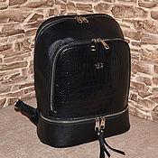 Сумки и аксессуары handmade. Livemaster - original item Model 973 Genuine Leather Backpack Leather Backpack. Handmade.