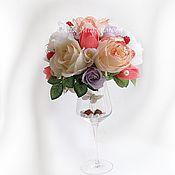 Цветы и флористика ручной работы. Ярмарка Мастеров - ручная работа Букет из конфет Лето в бокале. Handmade.