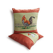 Куклы и игрушки handmade. Livemaster - original item Symbol of the year 2017,the cock,the pillow with the symbol of the year 2017,a new year`s gift. Handmade.