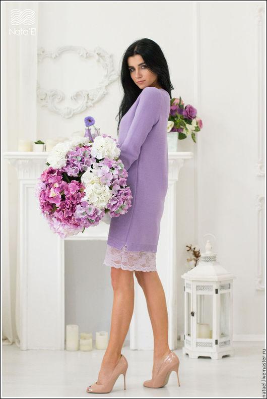 """Платья ручной работы. Ярмарка Мастеров - ручная работа. Купить Платье """"Виолетта"""". Handmade. Сиреневый, платье для женщины"""