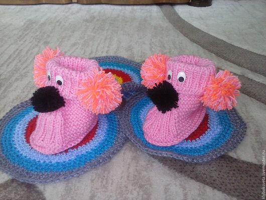 Детская обувь ручной работы. Ярмарка Мастеров - ручная работа. Купить Пинетки собачки. Handmade. Пинетки, детская обувь, мягкие