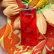 """Украшения ручной работы. Ярмарка Мастеров - ручная работа Кулон """"Оранжево-летнее настроение"""". Handmade."""