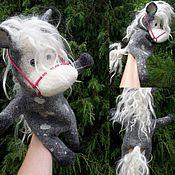 Куклы и игрушки ручной работы. Ярмарка Мастеров - ручная работа Перчаточная кукла - Лошадка в яблоках. Handmade.
