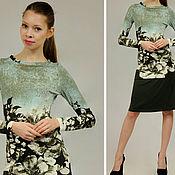 Одежда ручной работы. Ярмарка Мастеров - ручная работа СКИДКА 50%! Трикотажное платье из вискозы прямое на работу до колена. Handmade.