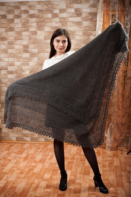 """Купить Пуховый платок,шаль """"Оренбургская степь"""" в интернет магазине на Ярмарке Мастеров"""