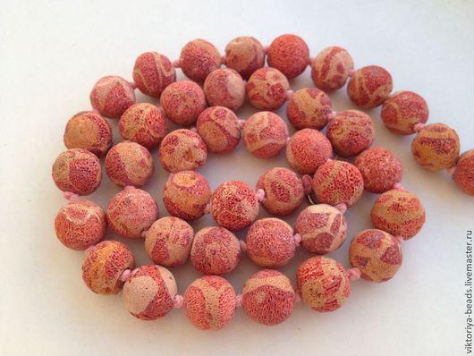Для украшений ручной работы. Ярмарка Мастеров - ручная работа. Купить Коралл губчатый красный бусины. Handmade. Коралл