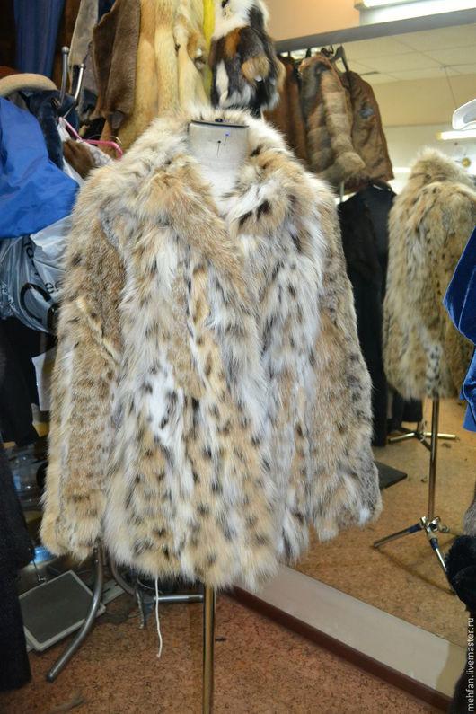 куртка из меха рыси видной кошки