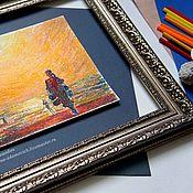 Картины и панно ручной работы. Ярмарка Мастеров - ручная работа Пастель картина Купи барабан. Картины моря. Картина пастелью. Handmade.