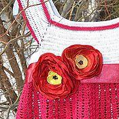 Работы для детей, ручной работы. Ярмарка Мастеров - ручная работа Малиновый летний комплект для девочки. Handmade.