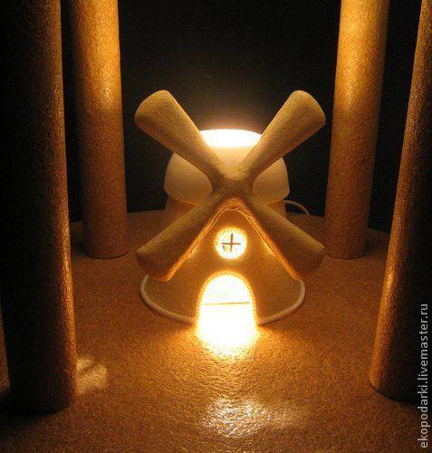 Элементы интерьера ручной работы. Ярмарка Мастеров - ручная работа. Купить Ветряная мельница лампа. Handmade. Подарки, светильник, сувениры
