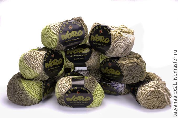 Вязание ручной работы. Ярмарка Мастеров - ручная работа. Купить Пряжа  Noro Shiro № 4. Handmade. Шерсть 100%