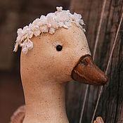 Куклы и игрушки ручной работы. Ярмарка Мастеров - ручная работа Птица АкТуш( белая птица). Handmade.