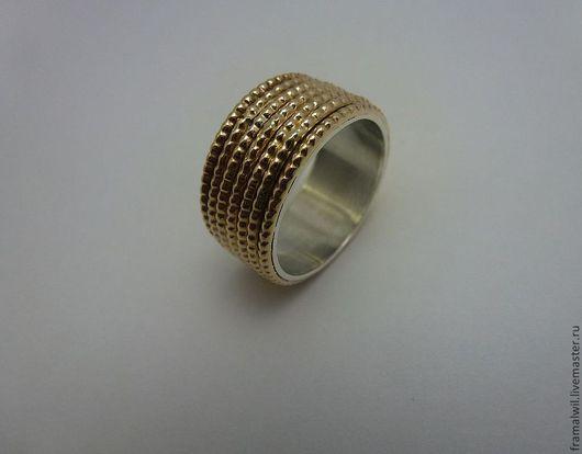 """Кольца ручной работы. Ярмарка Мастеров - ручная работа. Купить Кольцо """"Семь"""". Handmade. Кольцо, наполненное золото, подарок женщине"""