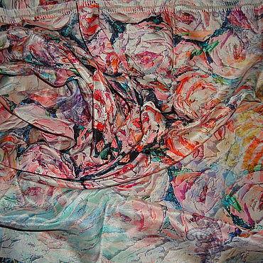Материалы для творчества ручной работы. Ярмарка Мастеров - ручная работа Лоскут шелка. Handmade.