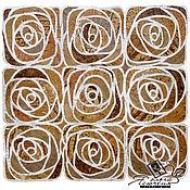 "Картины и панно handmade. Livemaster - original item Интерьерное панно из пробки ""Флористика"". Handmade."