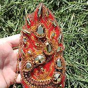 """Украшения ручной работы. Ярмарка Мастеров - ручная работа Кулон """"Огненная саламандра"""". Handmade."""