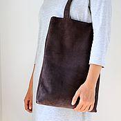 Сумки и аксессуары handmade. Livemaster - original item Shopper made of genuine leather art. 479 dark chocolate. Handmade.