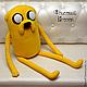Сказочные персонажи ручной работы. Adventure Time Джейк большой (80 см). Тамара Никитина (Флисовый Уголок). Ярмарка Мастеров. мультяшный
