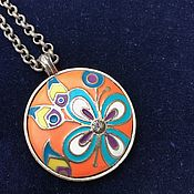 Винтаж handmade. Livemaster - original item Vintage pendant with an enamel coating, handmade, Italy.. Handmade.