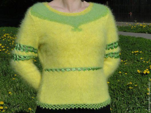 Кофты и свитера ручной работы. Ярмарка Мастеров - ручная работа. Купить Кофта желтая Monica. Handmade. Желтая красивая пряжа