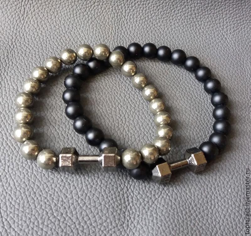 Купить мужской браслет из гематита