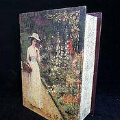Для дома и интерьера handmade. Livemaster - original item Box-book ,,Queen,, box decoupage. Handmade.