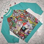 """Одежда ручной работы. Ярмарка Мастеров - ручная работа детский свитшот  Пикассо """"Чтение"""". Handmade."""
