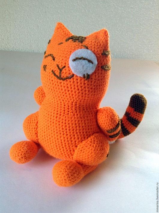 Обучающие материалы ручной работы. Ярмарка Мастеров - ручная работа. Купить МК по вязанию кота-стикера Персик-стесняшка. Handmade.
