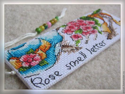 """Закладки для книг ручной работы. Ярмарка Мастеров - ручная работа. Купить Закладка """"Розовое письмо"""". Handmade. Закладка, закладки для книг"""