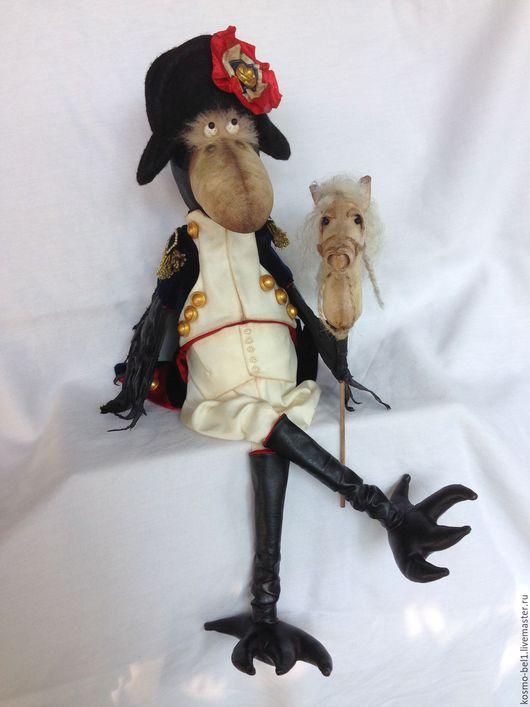 """Игрушки животные, ручной работы. Ярмарка Мастеров - ручная работа. Купить Интерьерная игрушка """"Ворон Наполеон"""". Handmade. Комбинированный, Наполеон"""