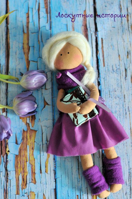 Человечки ручной работы. Ярмарка Мастеров - ручная работа. Купить Кукла. Handmade. Фиолетовый, кукла текстильная, подарок