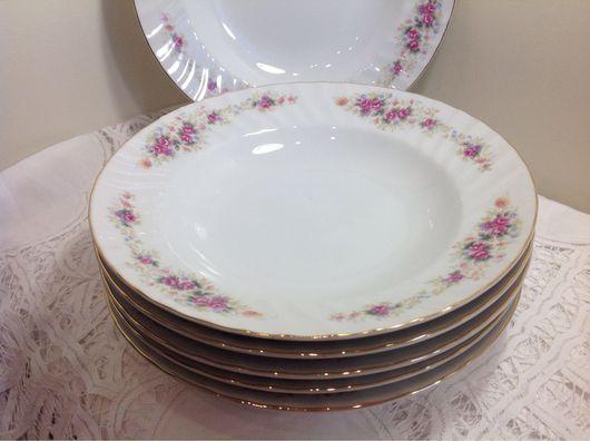 Винтажная посуда. Ярмарка Мастеров - ручная работа. Купить Старинный японский фарфор SONE. Комплект глубоких тарелок.1950. Handmade.