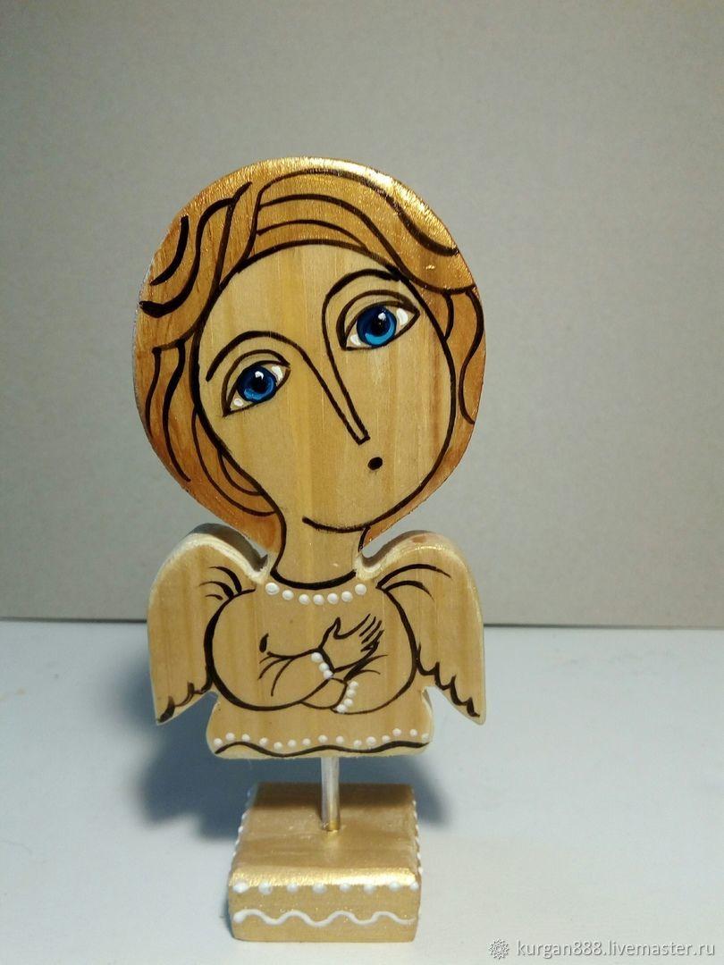 Миниатюрные модели ручной работы. Ярмарка Мастеров - ручная работа. Купить Ангел - сувенир из дерева. Handmade. Деревянная игрушка, расписной