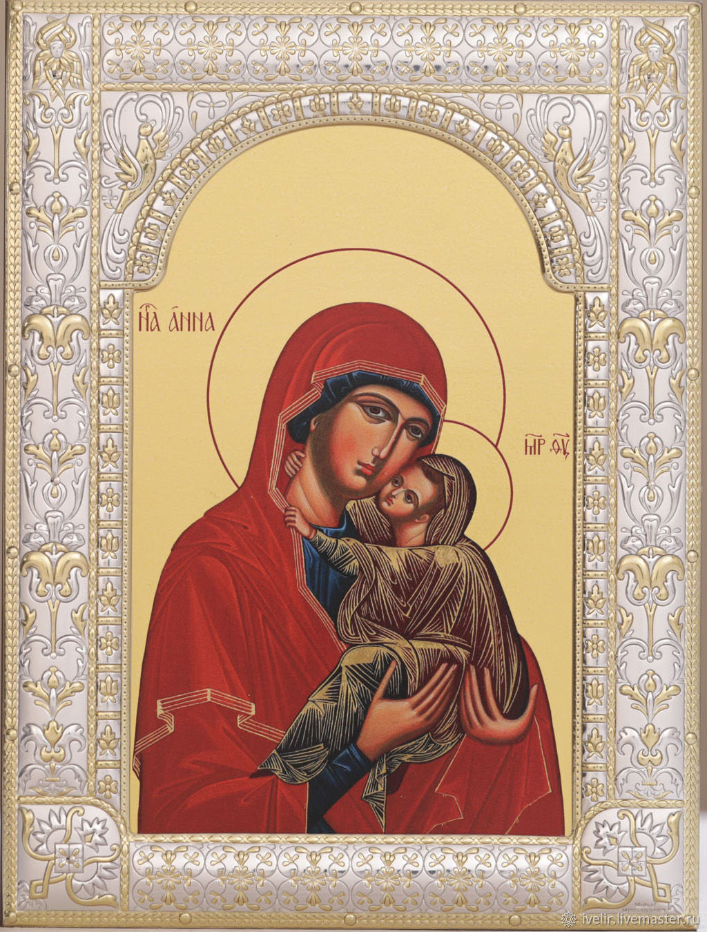 Anna mother of the Theotokos (18h24sm), Icons, Moscow,  Фото №1