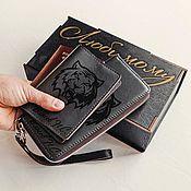 Обложки ручной работы. Ярмарка Мастеров - ручная работа Стильный комплект: универсальный клатч и обложка для паспорта. Handmade.