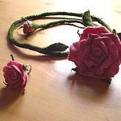 Украшения ручной работы. Ярмарка Мастеров - ручная работа Роза на длинном стебле. Handmade.