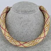 Украшения handmade. Livemaster - original item Harness-necklace-choker beaded