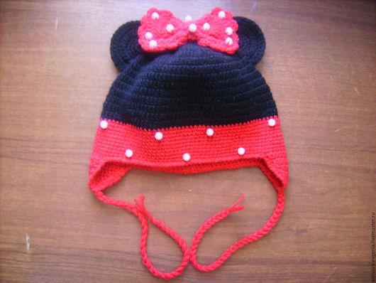 """Одежда для девочек, ручной работы. Ярмарка Мастеров - ручная работа. Купить Шапочка """"Минни Маус"""". Handmade. Комбинированный, шапочка для фотосессии"""