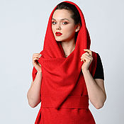Палантины ручной работы. Ярмарка Мастеров - ручная работа Палантин-трансформер Cover Vest Red: 10 в 1. Handmade.
