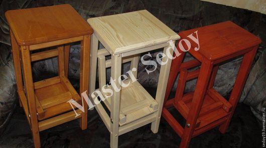 Мебель ручной работы. Ярмарка Мастеров - ручная работа. Купить Барный стул-стремянка. Handmade. Комбинированный, натуральное дерево