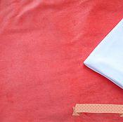 """Ткани ручной работы. Ярмарка Мастеров - ручная работа Хлопковый велюр """"Коралл"""". Handmade."""
