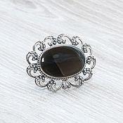 Украшения handmade. Livemaster - original item Obsidian (brooch) (304). Handmade.