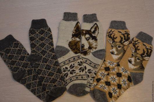 Носки, Чулки ручной работы. Ярмарка Мастеров - ручная работа. Купить Носки шерстяные мужские. Handmade. Комбинированный, носки
