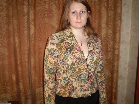 Пиджаки, жакеты ручной работы. Ярмарка Мастеров - ручная работа. Купить Жакет из жаккарда. Handmade. Жакет, женская одежда