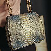Сумки и аксессуары handmade. Livemaster - original item Python genuine leather crossbody bag premium line. Handmade.