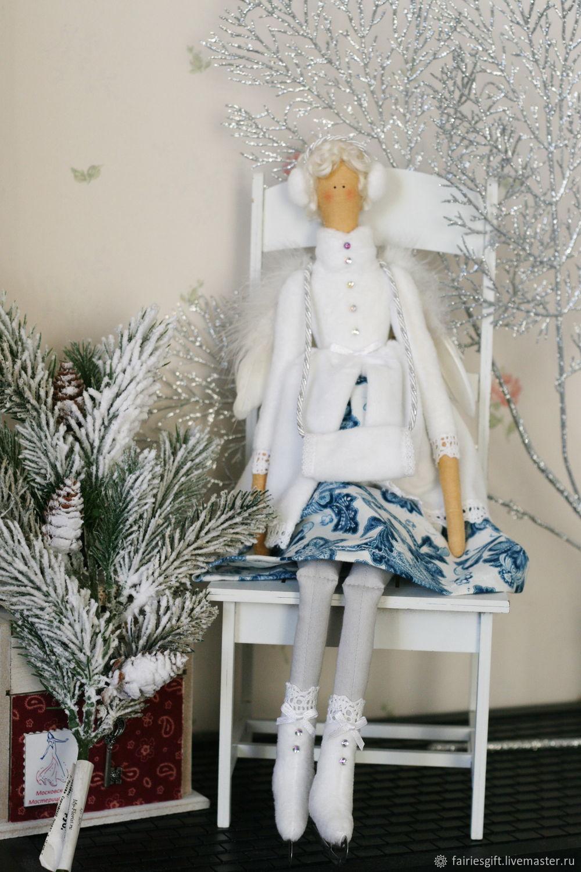 Снежный ангел на коньках, Куклы Тильда, Москва,  Фото №1